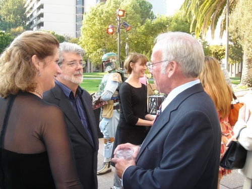 George Lucas with Book Publishing Consultant Peter Beren